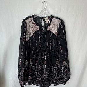 Knox Rose Long Sleeve Floral Blouse